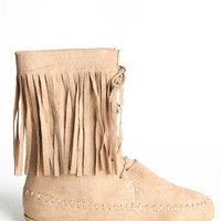 Pow Wow Fringe Lace Up Boots - $28.50: ThreadSence, Women's Indie & Bohemian Clothing, Dresses, & Accessories
