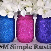Glitter Mason Jar, housewares, home decor, mason jar soap dispenser