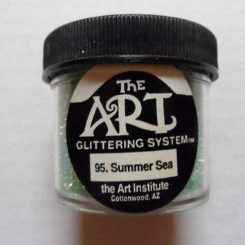 Craft Glitter The Art Institute 1 oz. jar #95 Summer Sea Paper Crafting NEW