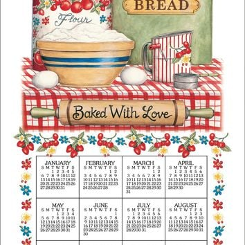 Calendar Towel 2019 - Bake With Love