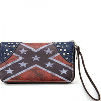 Vintage Rebel Flag Wallet