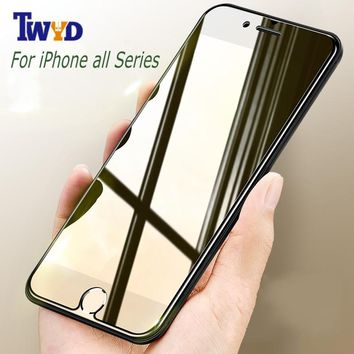 "Premium Tempered Glass Screen Protector For Apple iPhone 8 X 7 7 Plus 6 6s 4.7"" 6 6s Plus 5 5s 5c se 4 4s Protective cover Film"