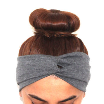 grey hairband, headbands, grey twist headbands,turban,boho headbands