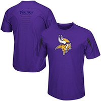 Minnesota Vikings Fanfare VII CoolBase Performance T Shirt Big and Tall Size 5XL Last One