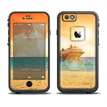 The Vintage Cruise ship at Dusk Apple iPhone 6 LifeProof Fre Case Skin Set