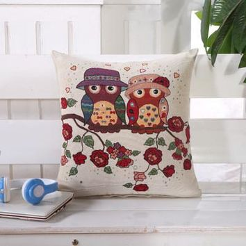 Cartoon Handmade Owl Home Decor Pillow Decorative Throw Pillows Cute Drawing 15