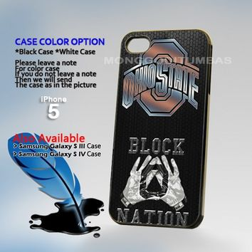 Ohio State Footbal Block Nation Photo Hard Plastic iPhone 5 Case Cover
