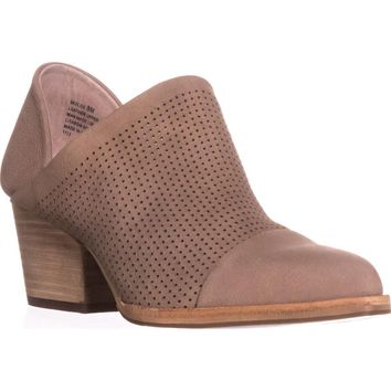 STEVEN Steve Madden Skelos Perforated Ankle Booties, Taupe, 8.5 US