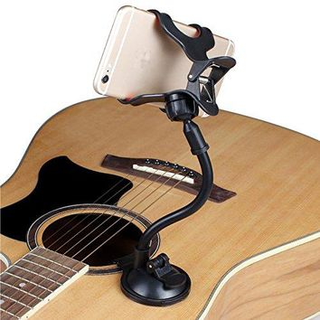 Car Holder Guitar phone holder stand for guitar street Singing lyrics Song Suction Cups Musicians Guitar Stand Car Holder Sucker