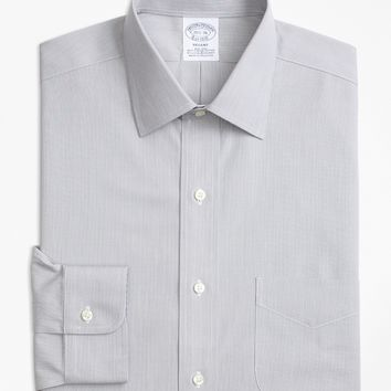Stretch Regent Fitted Dress Shirt, Non-Iron Hairline Stripe - Brooks Brothers