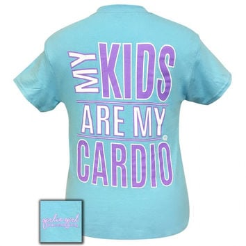 Girlie Girl Originals My kids are my cardio T-Shirt
