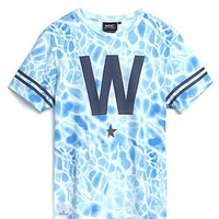 The W Star Tee in Pool Azul