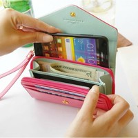 Candy -colored leather wallet phone package iphone4/4s/5 BACEH from Eternal