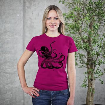Octopus Wonder Unisex Graphic Print T-shirt