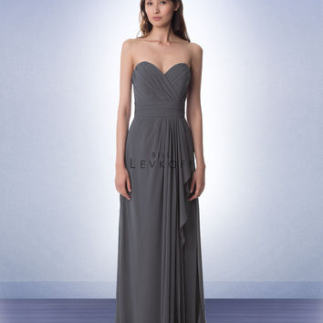Bill Levkoff Long Chiffon Bridesmaid Dress 978