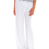 Long Vacation Pants - White Lace