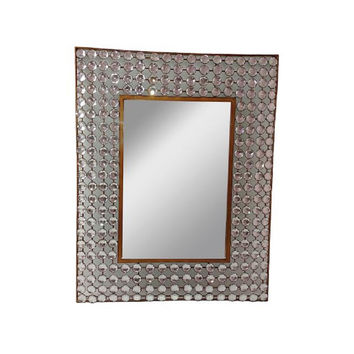 Brown Framed Acrylic Mirror