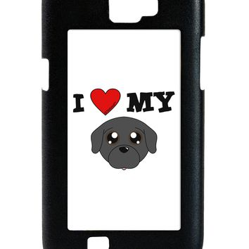 I Heart My - Cute Pug Dog - Black Galaxy Note 2 Case  by TooLoud