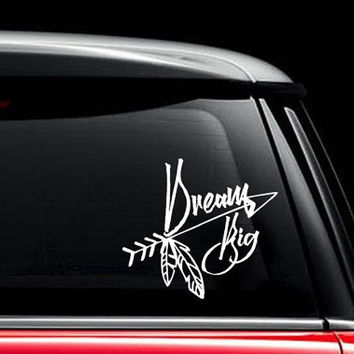 Car Decals Dream Big Vinyl Sticker Decals Boho Arrow Decal  Bohemian Bedding Decor Vinyl Sticker Window Truck Decal Stickers T28