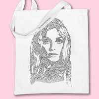 SHARON TATE Autopsy Portrait tote bag