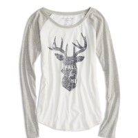 AEO FACTORY DEER GRAPHIC T-SHIRT