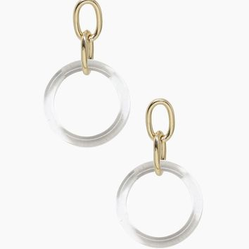 Be True Earrings - Clear & Gold