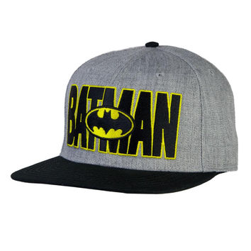 Batman - Logo In Name Wool Snapback Cap