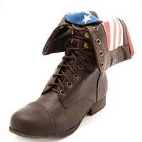 ZIP-BACK FOLD-OVER COMBAT BOOT