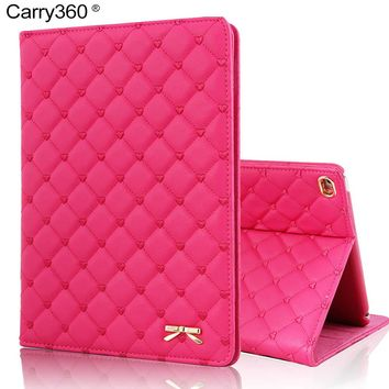 Case for iPad Air 2, Carry360 Luxury Fashion Bowknot PU Leather Cover for Apple iPad Mini 1 2 3 4 for iPad 2 3 4 for iPad Air 1