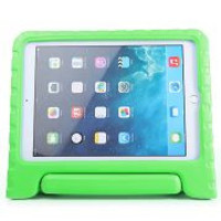 Kids Handle Design Stand EVA Foam Protective Case for iPad Air 2(iPad 6) (Green)