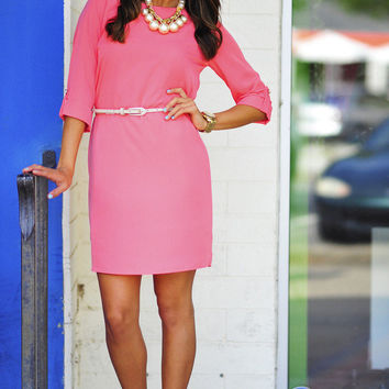 EVERLY: Conservative & Cute Dress: Coral | Hope's