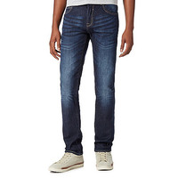 Mens Red Herring Dark blue dark wash skinny jeans
