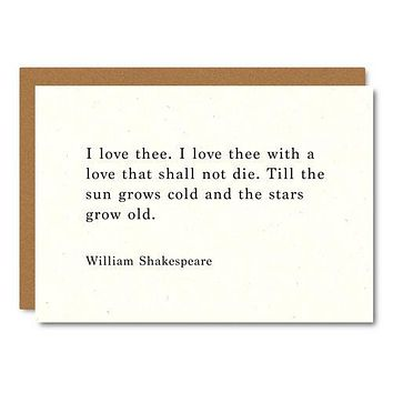 Little City Love - Shakespeare (Love you) Card