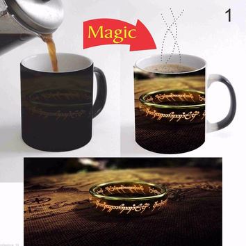 Lord of the Rings magic mugs coffee mug disappearing heat reveal cup cold hot heat changing color magic mug tea cups