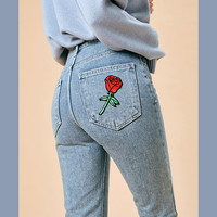 Flower on My Back Pocket Jeans