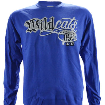 University of Kentucky WILDCAT BLING on LONG SLEEVE BLUE Shirt