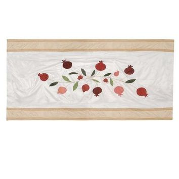 Machine Washable Silk Tablecloth In Off White Gold