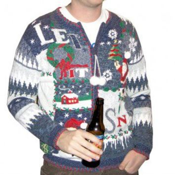"""Shop Now! Ugly Sweaters: """"Let it Snow"""" Tacky Ugly Christmas Sweater Women's Plus Size 1X $30 - The Ugly Sweater Shop"""