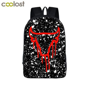 Cool Bull Paint Splatter Backpack For Teenage Children School Bags Women Men Urban Backpack Hipster Hip Hop Bags Boys Girls Gift