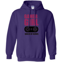 Gamer Girl Queen of Nerds Hoodie