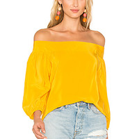 Amanda Uprichard Ronan Top in Marigold | REVOLVE