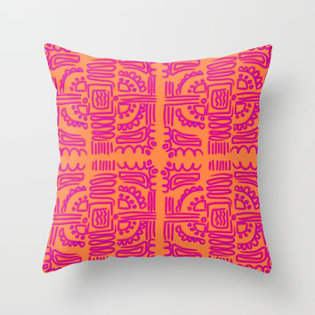 Funky Tribal #society6 #buyart #decor Throw Pillow by mirimo