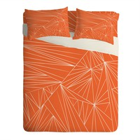 Vy La Tech It Out Orange Sheet Set Lightweight