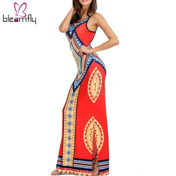 dress Long dress hippie Robe sexy Dashiki Sundresses  floor