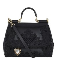 Dolce & Gabbana Macramé Lace Top Handle Bag | Harrods