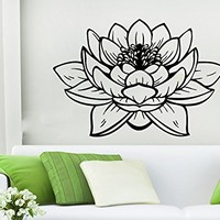 Lotus Wall Decal Vinyl Sticker Decals Flower Yoga Namaste Indian Ornament Moroccan Pattern Om Home Decor Bedroom Art Design Interior NS549