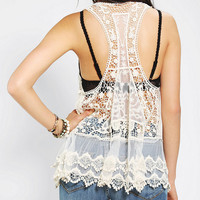 Urban Outfitters - Pins And Needles Lace Racerback Tank Top