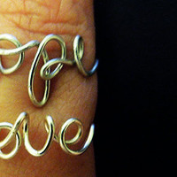 Hope OR Love Adjustable Wire Ring
