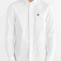 Fred Perry Classic Oxford Button-Down Shirt- White