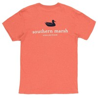 Authentic Tee in Washed Red by Southern Marsh - FINAL SALE